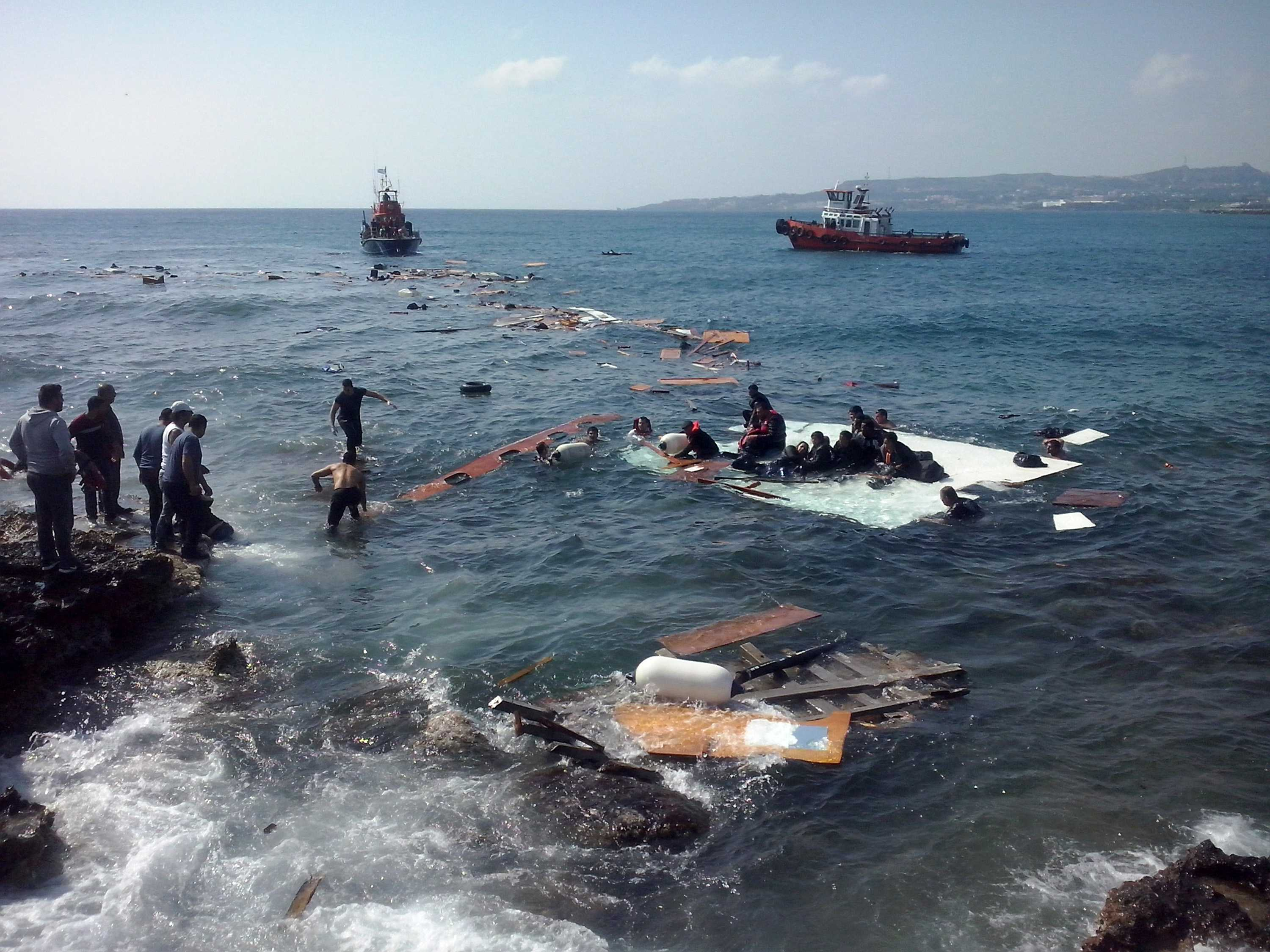 A vessel carrying approximately 200 irregular migrants sank off the coasts of Rhodes island in southeastern Aegean Sea on Monday, April 20, 2015, local authorities said. At least three people died in the accident. European Union officials gathered for an emergency meeting Monday, after hundreds of people are believed to have died in what could be the Mediterranean's deadliest migrant disaster. (Xinhua/Zuma Press/TNS)