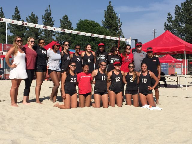CSUN+Sand+Volleyball+will+be+the+17th+sport+sponsred+by+the+Big+West+in+the+2015-2016+season+and+will+compete+in+conference+play+in+only+it%27s+third+season+of+existence.+Photo+credit%3A+Thomas+Gallegos
