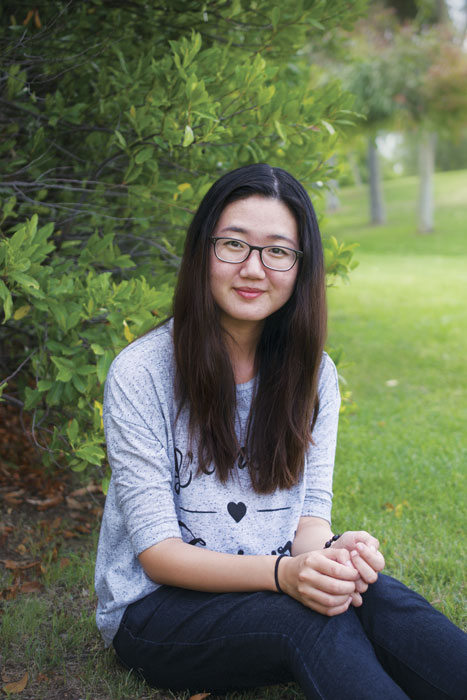 CSUN student Adriana Lee Park is an animation major that hopes to work for Pixar Animation Studio or Dreamwork's. Photo credit: Alyson Burton