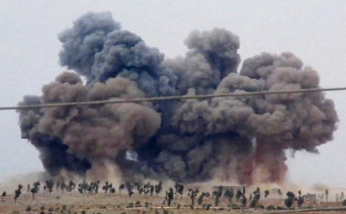 An+airstrike+in+Idlip+Province+in+Syria.