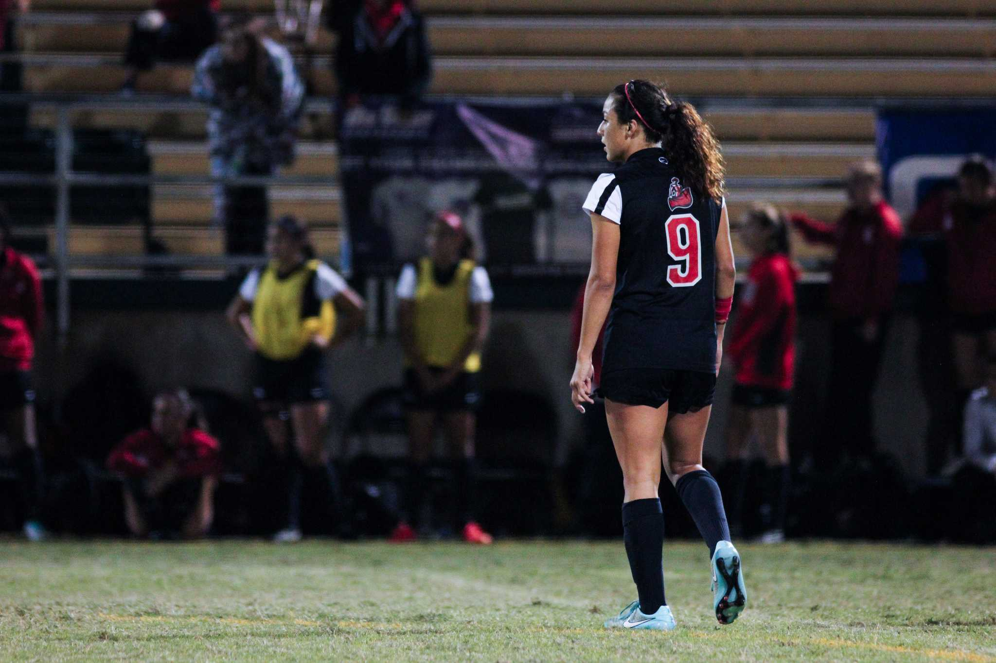 Cynthia Sanchez #9 is only four goals away from becoming that Matadors all-time leading scorer. Photo credit: File Photo/The Sundial