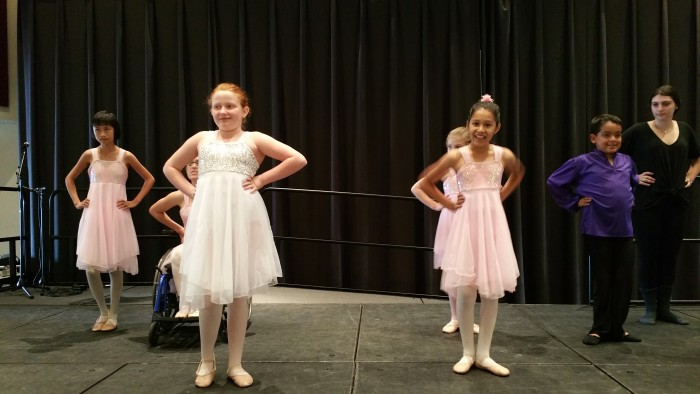 Ballet For All Kids program gets ready to perform at the Special Needs Resource Fair on Saturday.