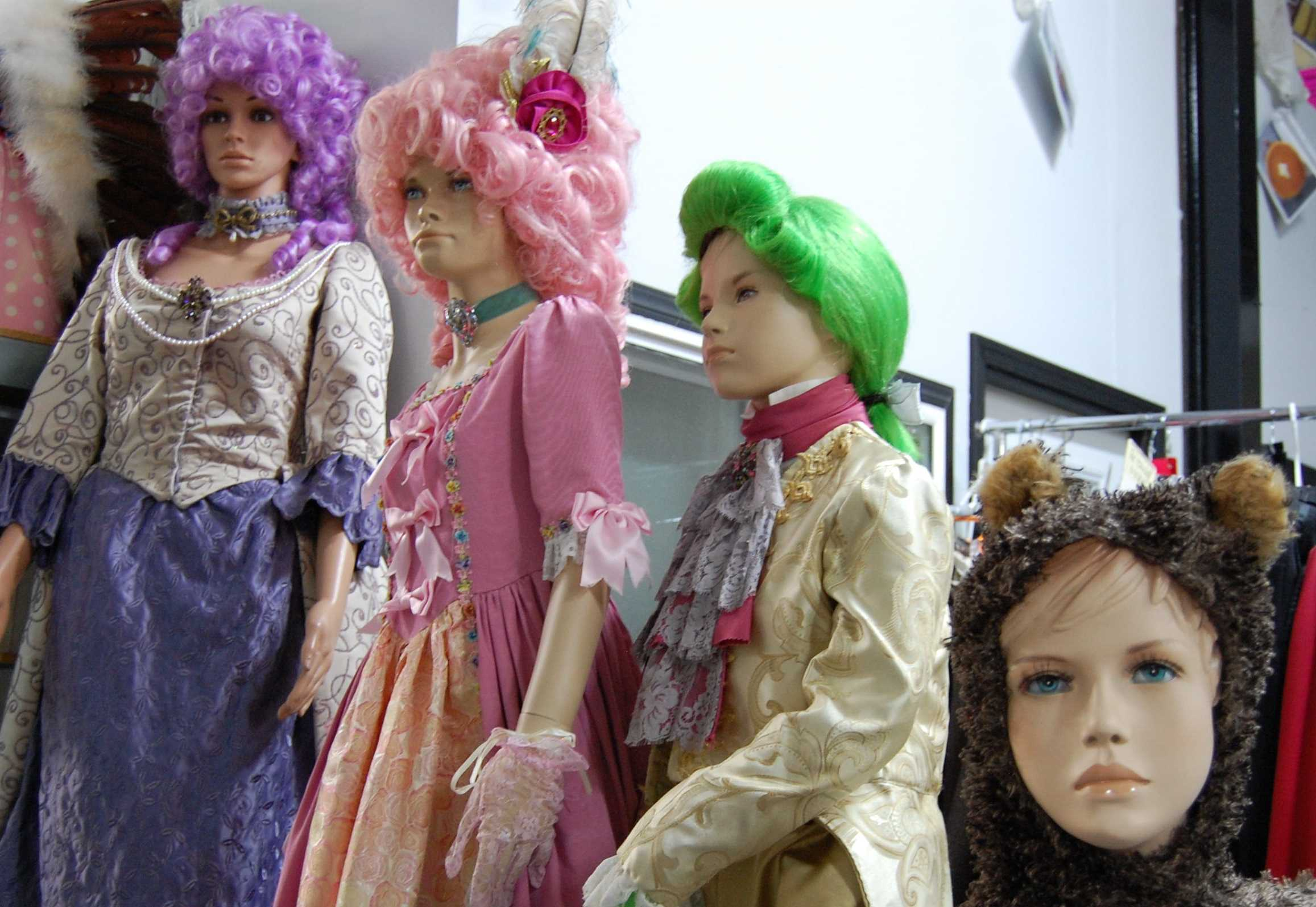 Some costumes that are displayed in the Costume House.