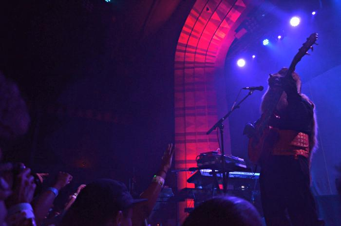 Los Angeles musician, Thundercat, preforms in Los Angeles on October 11, 2015