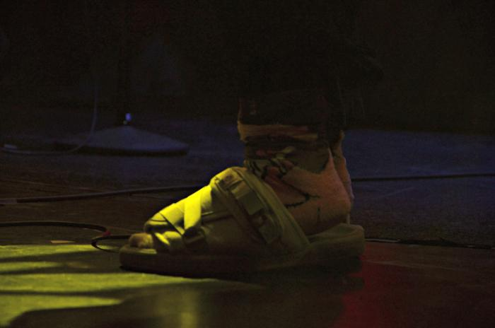 A glance of Thundercat's sandals