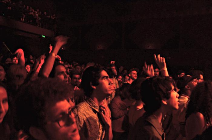 The crowd sings along with Thundercats last concert.