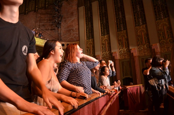Fans jamming out to Passion Pit's performance at the Wiltern on Oct. 28