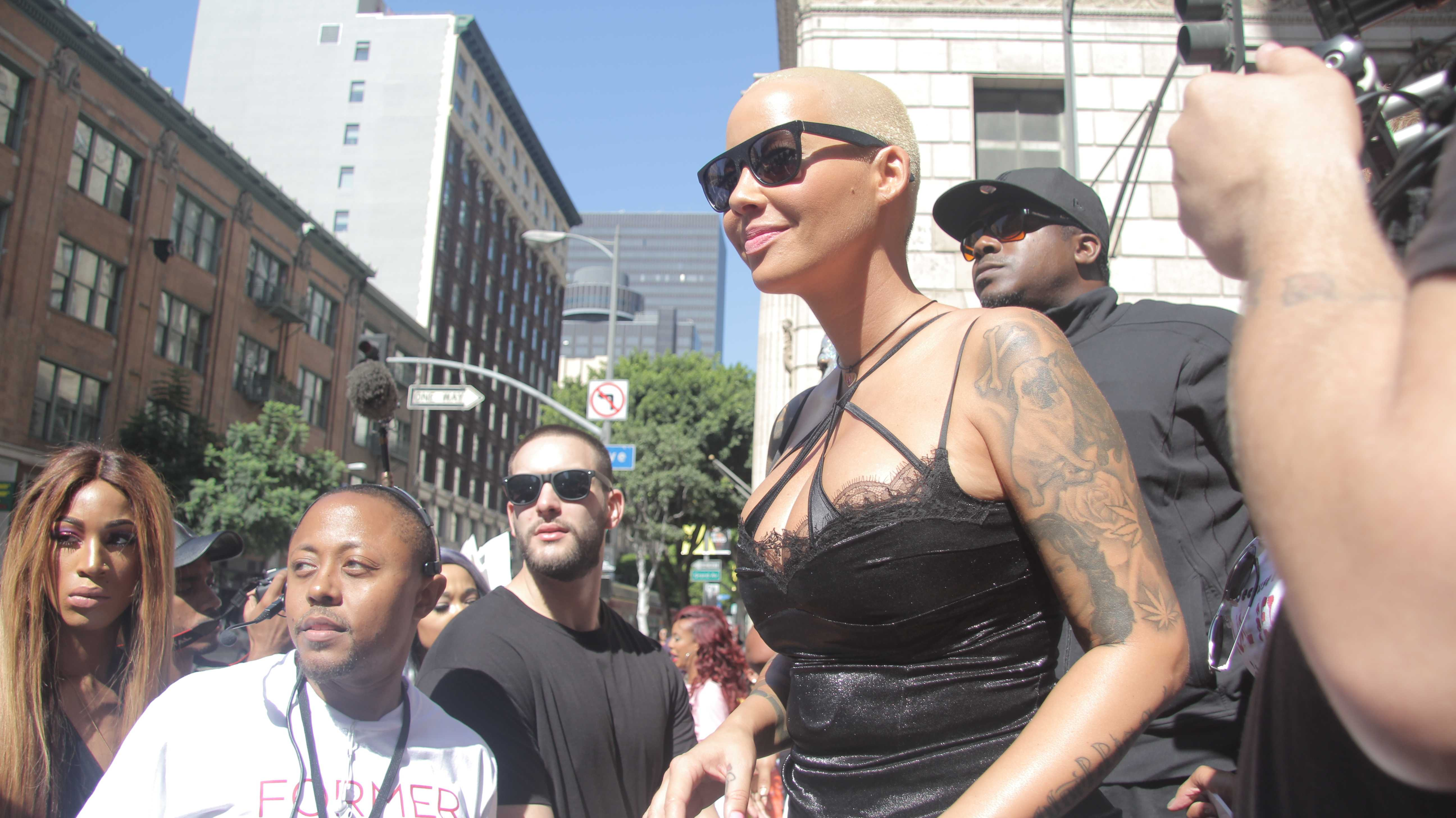 Amber Rose at her Slutwalk in Downtown LA