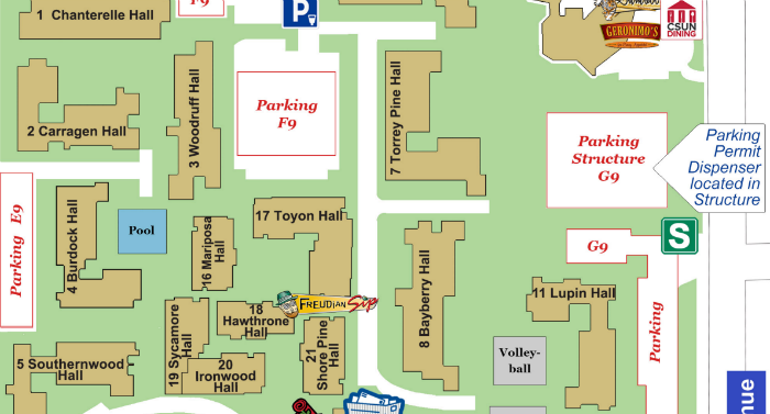 Map of CSUN campus.