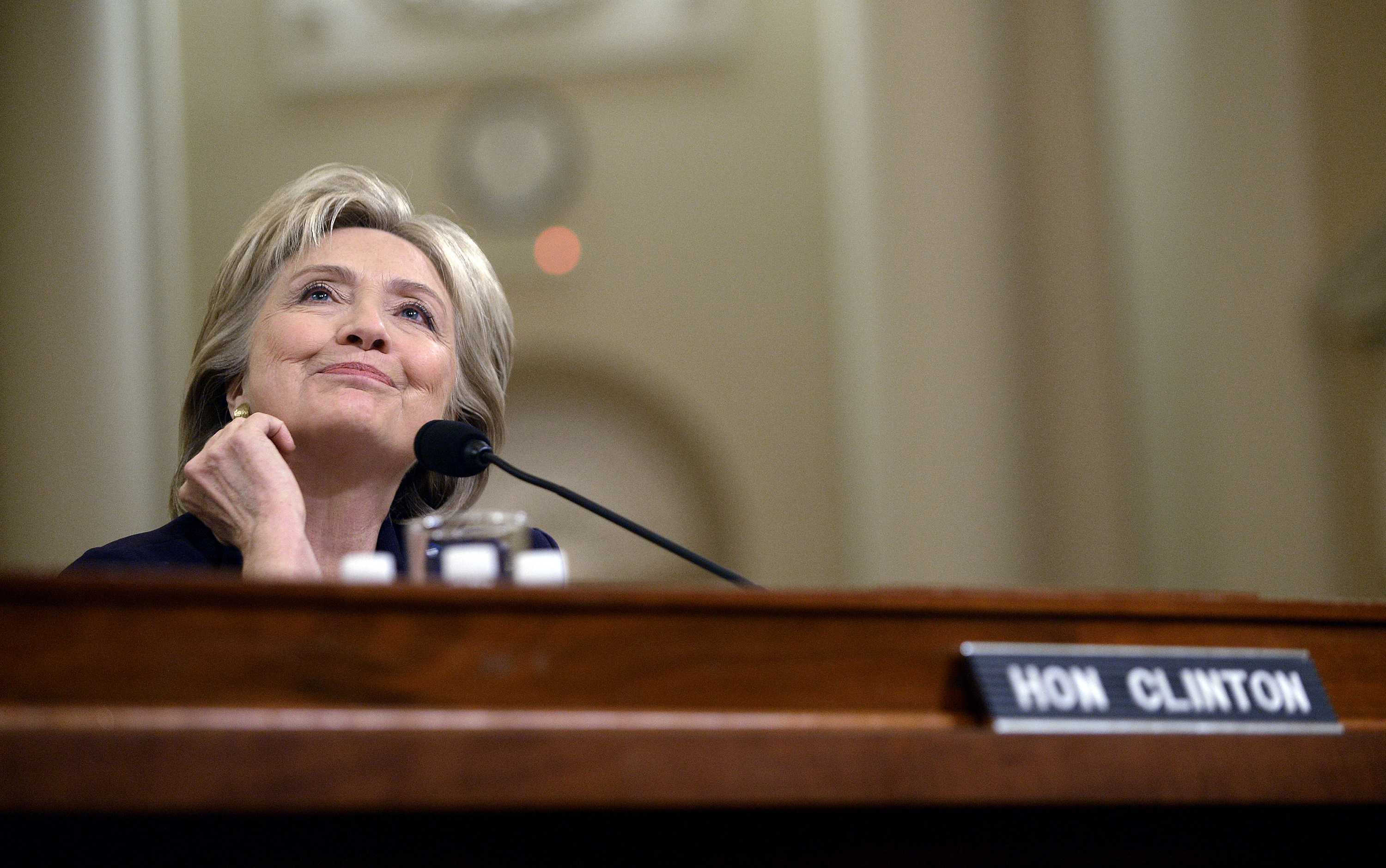 Hilary Clinton on a committee panel.