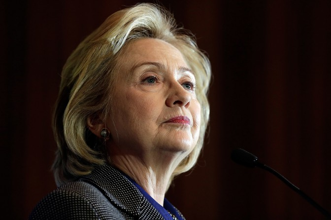 U.S. Secretary of State, Hillary Clinton speaks out a public event.