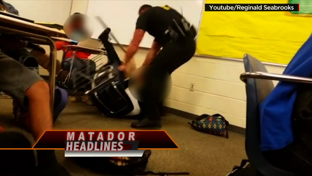 Security Officer violently grabs and drags female student at Spring Valley High School