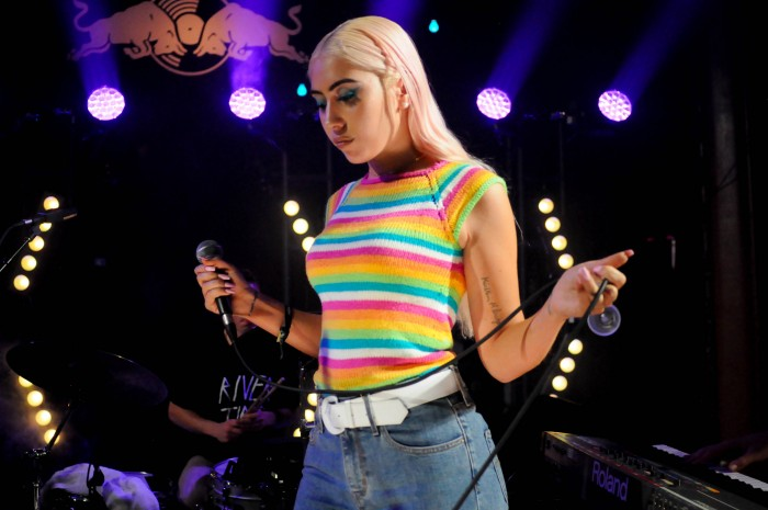 Kali+Uchis+joins+BADBADNOTGOOD+during+their+performance+at+the+Tower+on+Nov.+30.