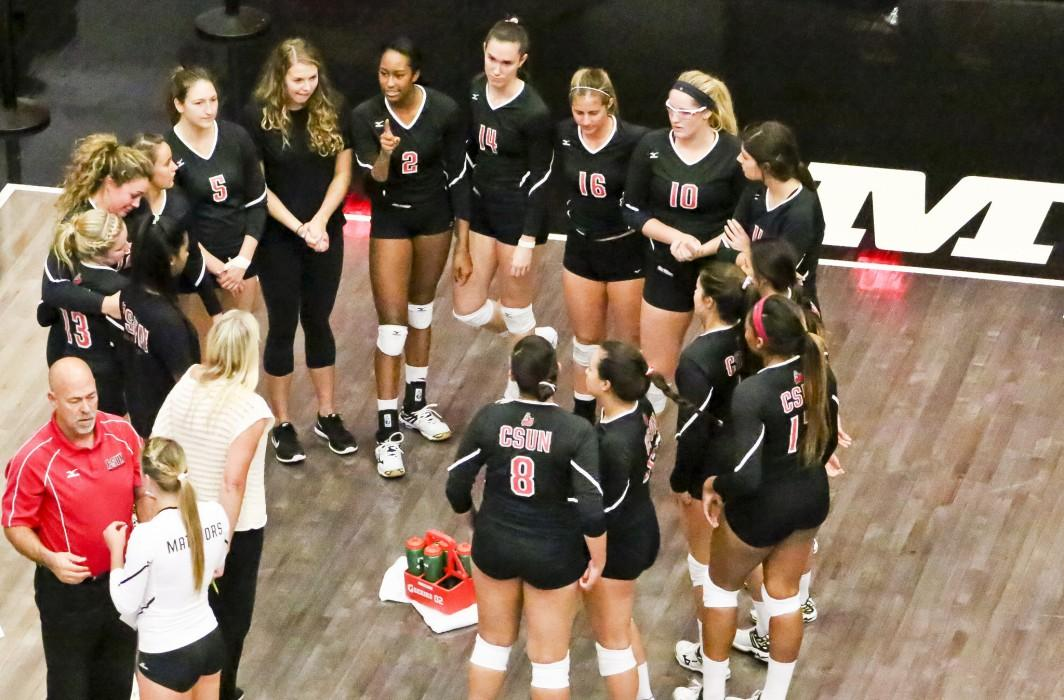 The Matadors were competitive for the majority of sets, but they are looking for answers after falling to the 49ers in straight sets. Photo credit: David Hawkins