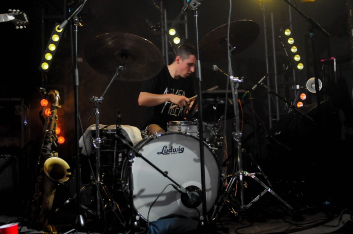 Alexander+Sowinski+of+BADBADNOTGOOD+during+his+band%27s+performace+at+the+Tower+on+Nov.+20.