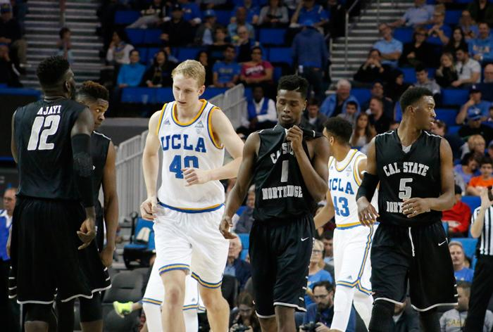The CSUN Men's basketball team fell early in the game and were unable to recover losing to UCLA by a final score of 45-77 at  Pauley Pavillion on Sunday Nov. 29, 2015. (Raul Martinez / The Sundial)