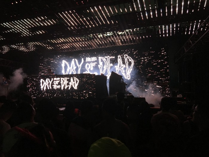 Djemba+Djemba+performing+at+the+Bone+Shaker+stage+at+Hards+Day+of+the+Dead+festival+on+Oct.+31.+Photo+credit%3A+Michelle+Moran