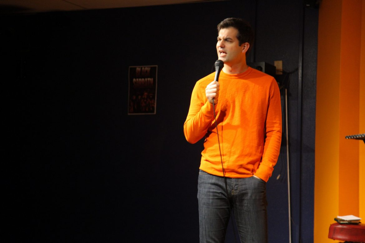 The headliner Michael Kosta at Laugh Your Class Off. (Magaly Barajas / The Sundial)