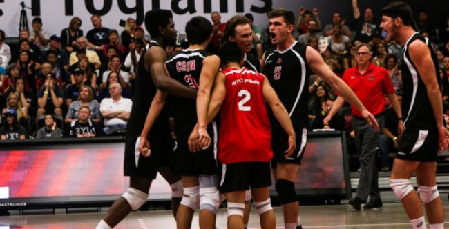 CSUN men's volleyball plays against BYU in May (File photo / The Sundial)
