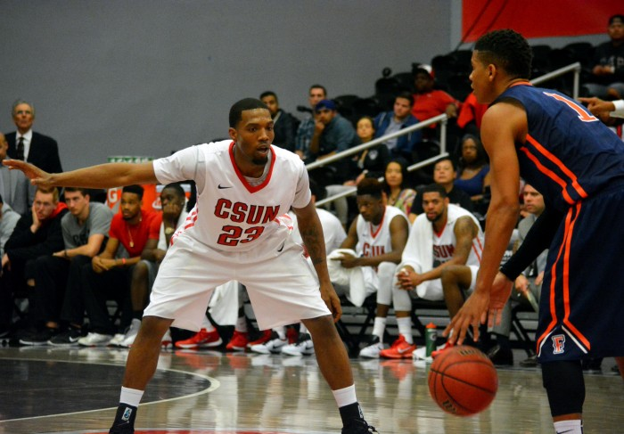 Sophomore guard Jerron Wilbut was instrumental in CSUN's win against Cal Poly on Feb. 20, 2016, scoring 18 points. (File Photo / Patricia Perdomo / The Sundial)