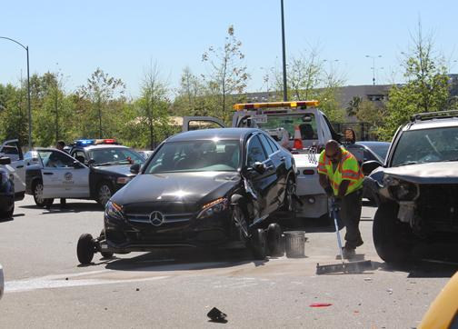 A Nissan Pathfinder collided with a Mercedes-Benz when the Mercedes was making a u-turn. James Fike / The Sundial
