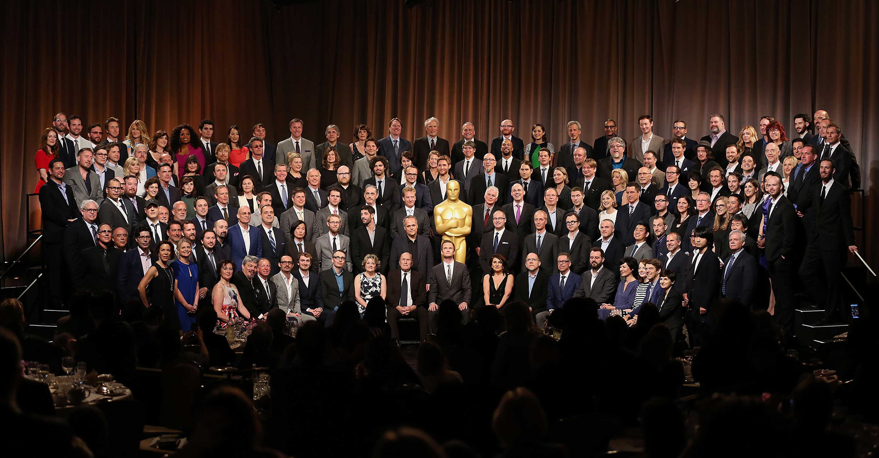The 87th Academy Award nominee class during the luncheon at the Beverly Hills Hilton in Beverly Hills, Calif., on Monday, Feb. 2, 2015. (Al Seib/Los Angeles Times/TNS)
