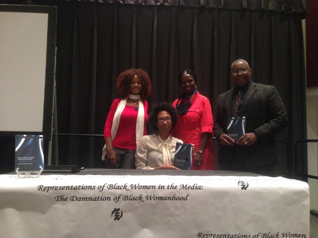 Left Dr. Theresa White, bottom Dr. Marquita Gammage, Department of Chair Sylvia Macauley (middle), right Professor Dr. Cedric Hackett