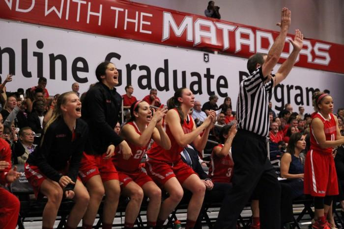 Women's Basketball 2014-2015 bench on March 5, 2015. (Trevor Stamp / Multimedia Editor)