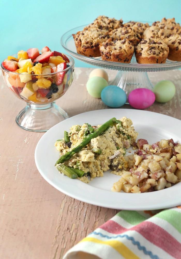 Photo of Easter brunch food