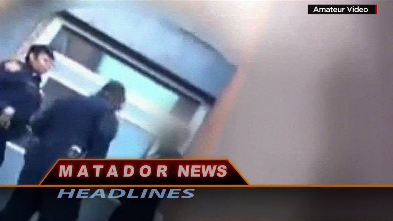 Still photo of police video from Matador News Headlines