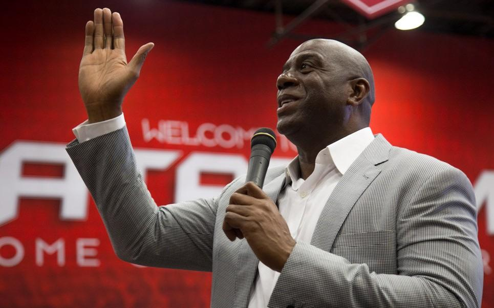 Magic Johnson speaks
