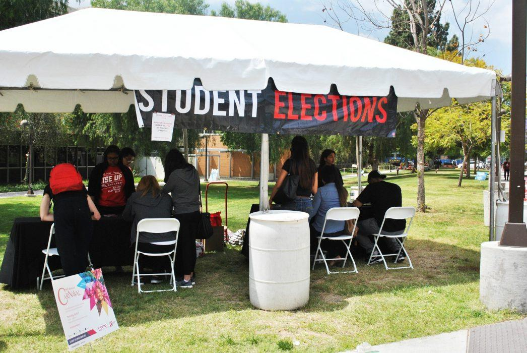 """Photo of """"Student Elections"""" stand"""