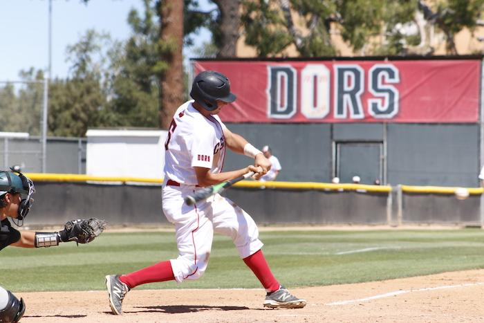 CSUN+baseball+athlete+bats+at+home+base