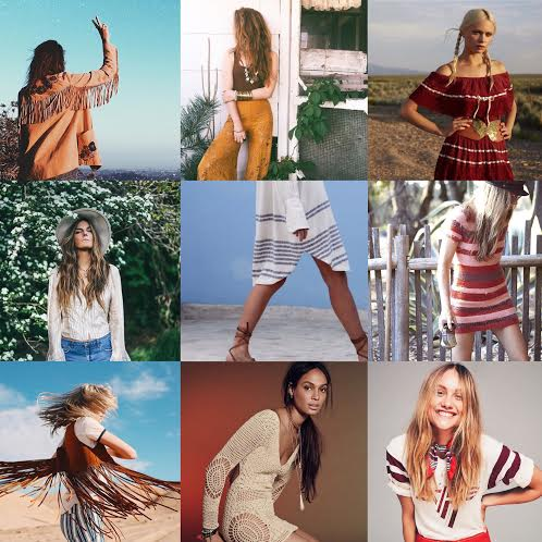 "Models wear ""Coachella"" attire"