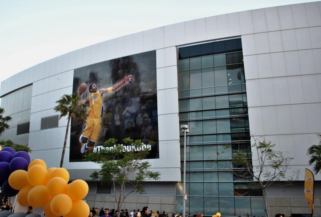 Kobe image covers side of building