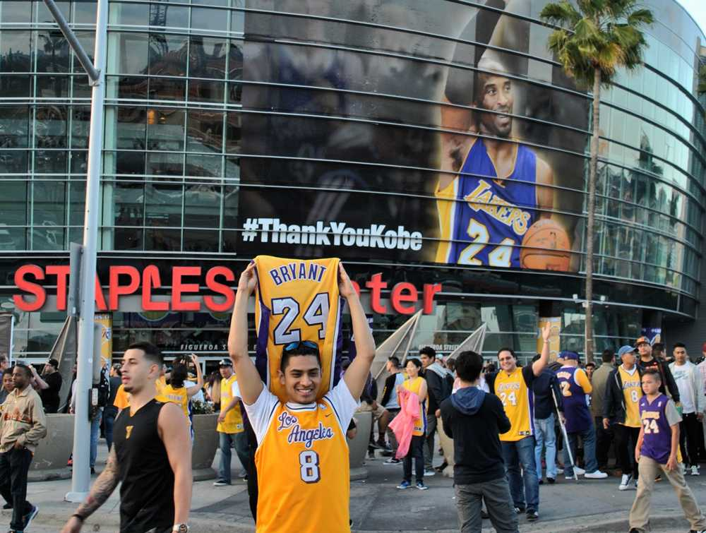 Kobe fans celebrate at his final game