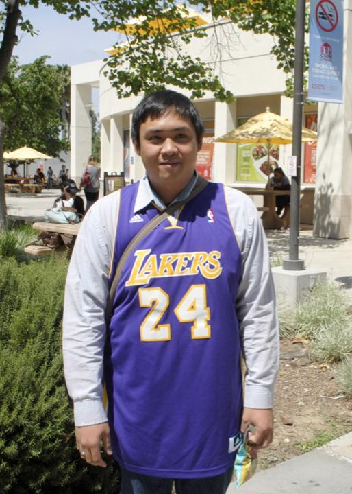 Aldrin Bigay grew up watching the Lakers and remembers his dad yelling at the screen during games.