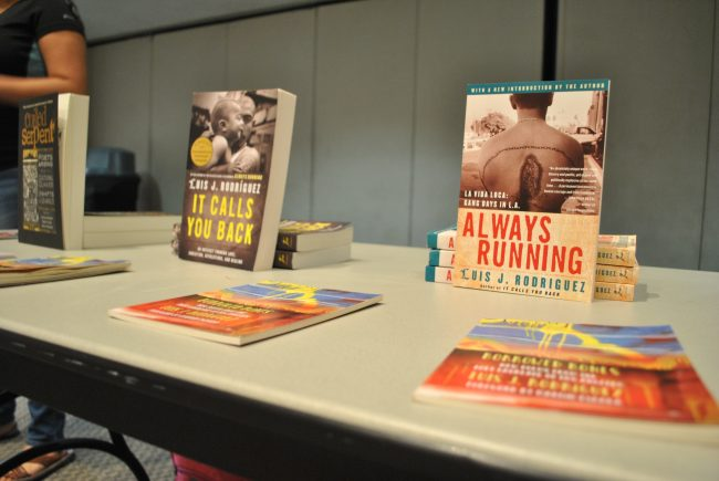 """Luis J. Rodriguez memoir, """"Always Running"""" has sold around half a million copies. Its one of the most checked out and stolen books in LA area libraries."""