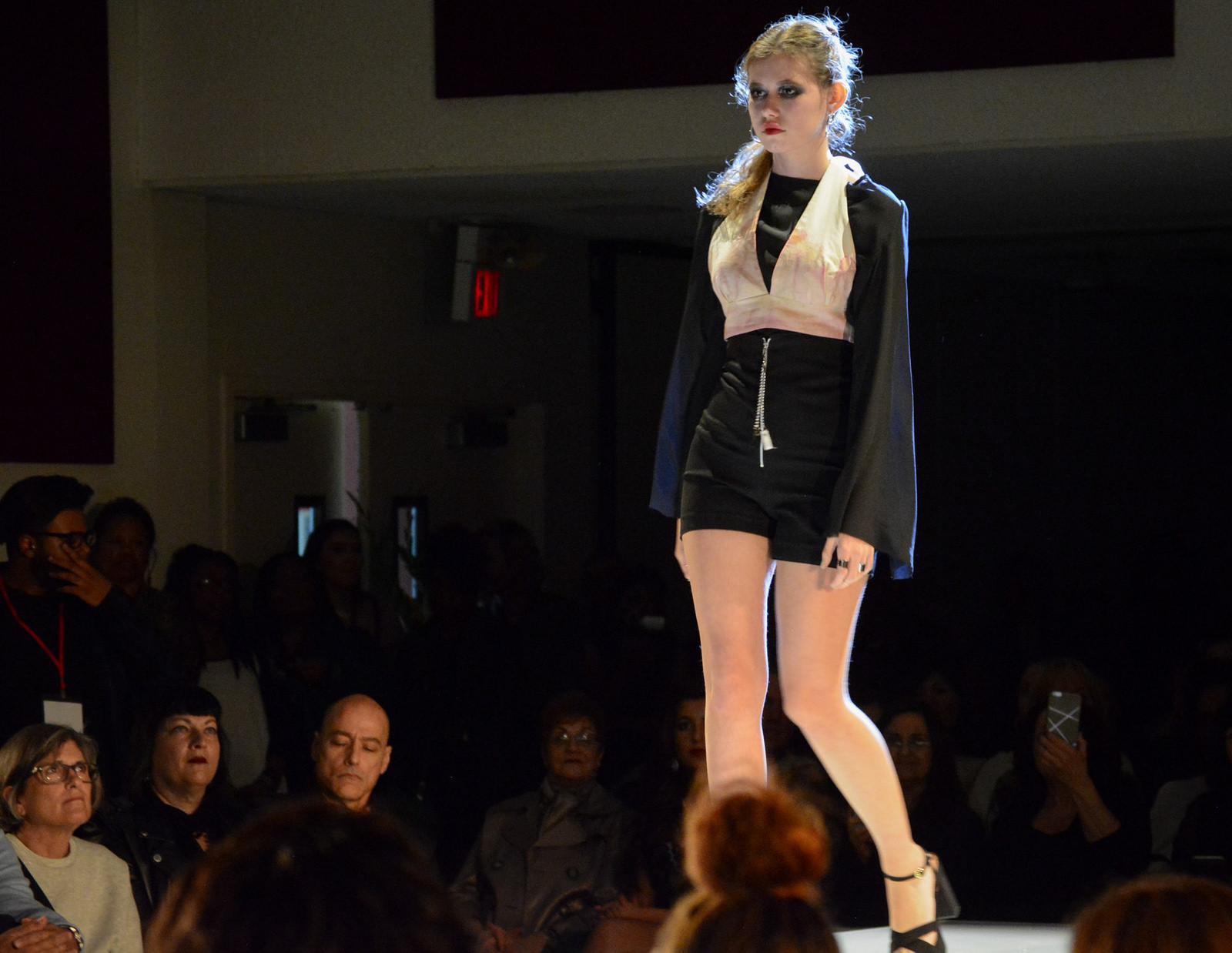 Rosie Einbund walks the runway