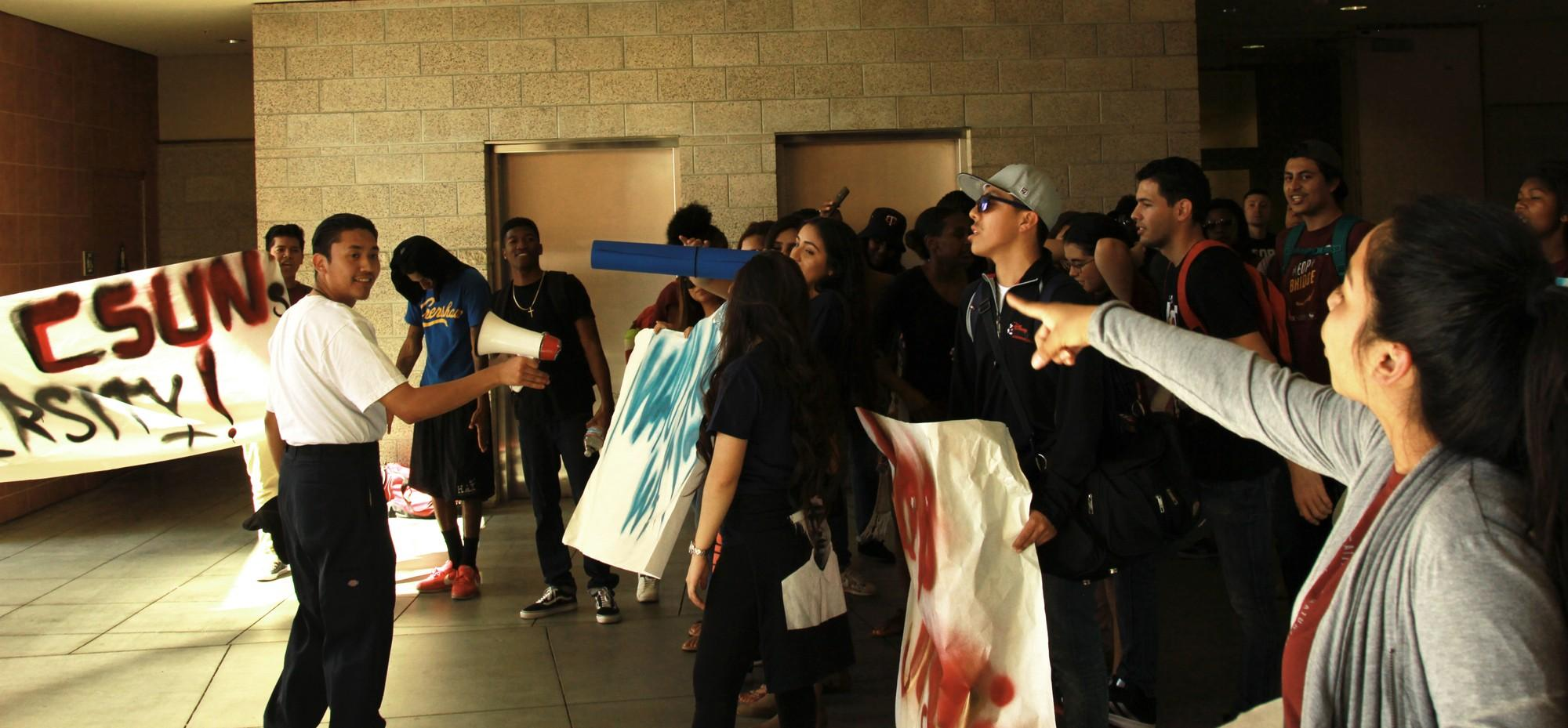 Students protest for new EOP director