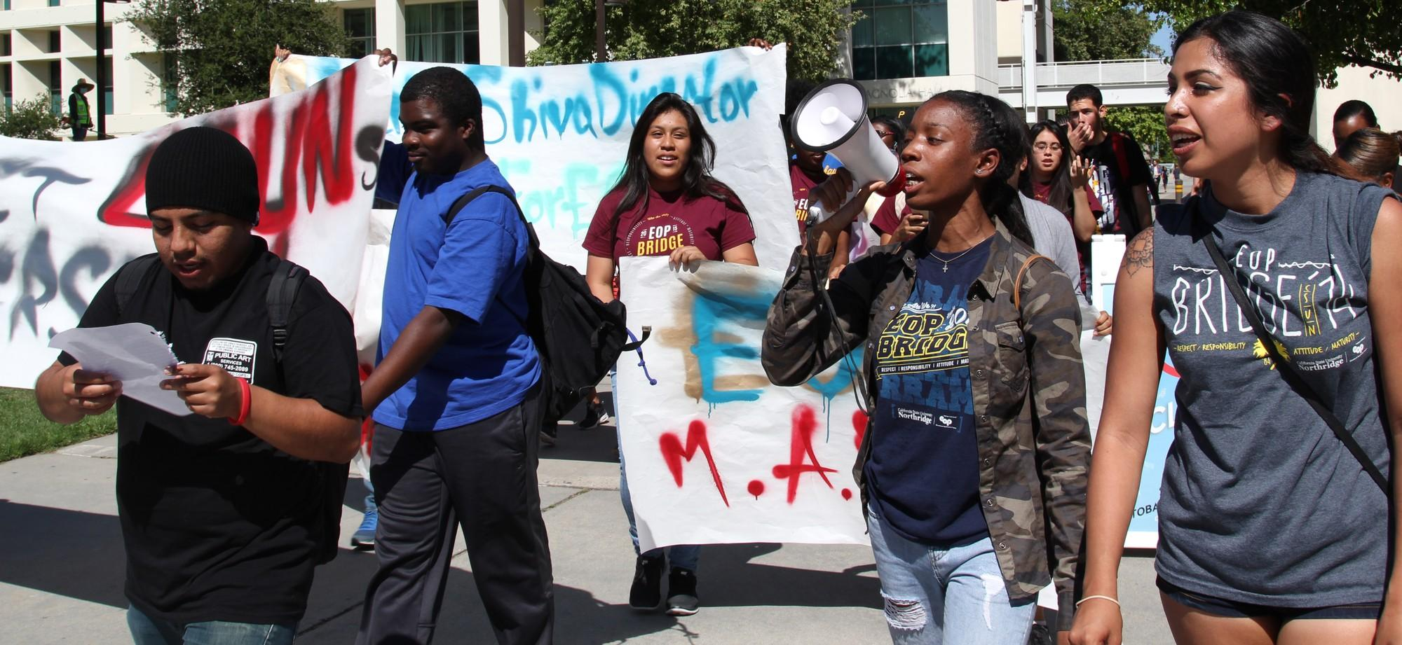 Students march for new EOP dorector