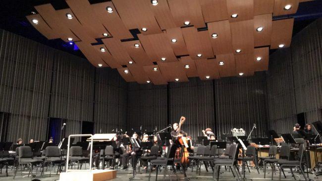 Studio Ensemble preparing for its Thursday evening performance at VPAC alongside composer John Debney. (Peter Felsch/The Sundial)
