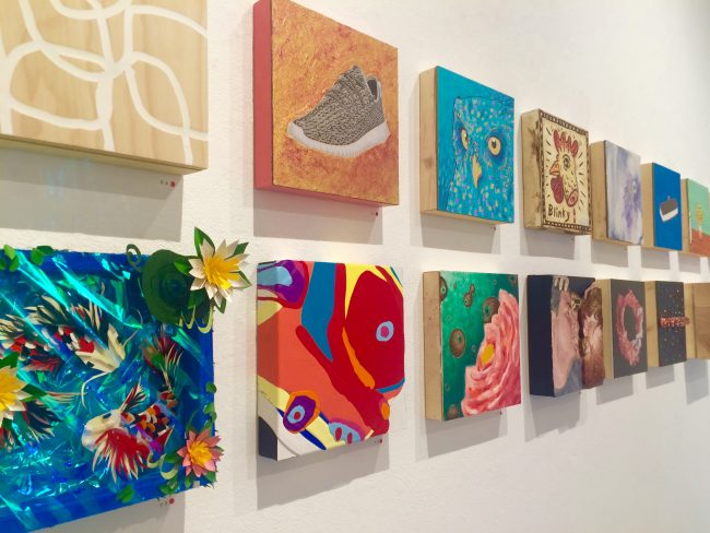 CSUN's First Annual Shop and Show Sale features artwork anonymously created by students, faculty and alumni. All pieces are sold for $20 to benefit the school's sculpture organization. (Lindsay Baffo/The Sundial)