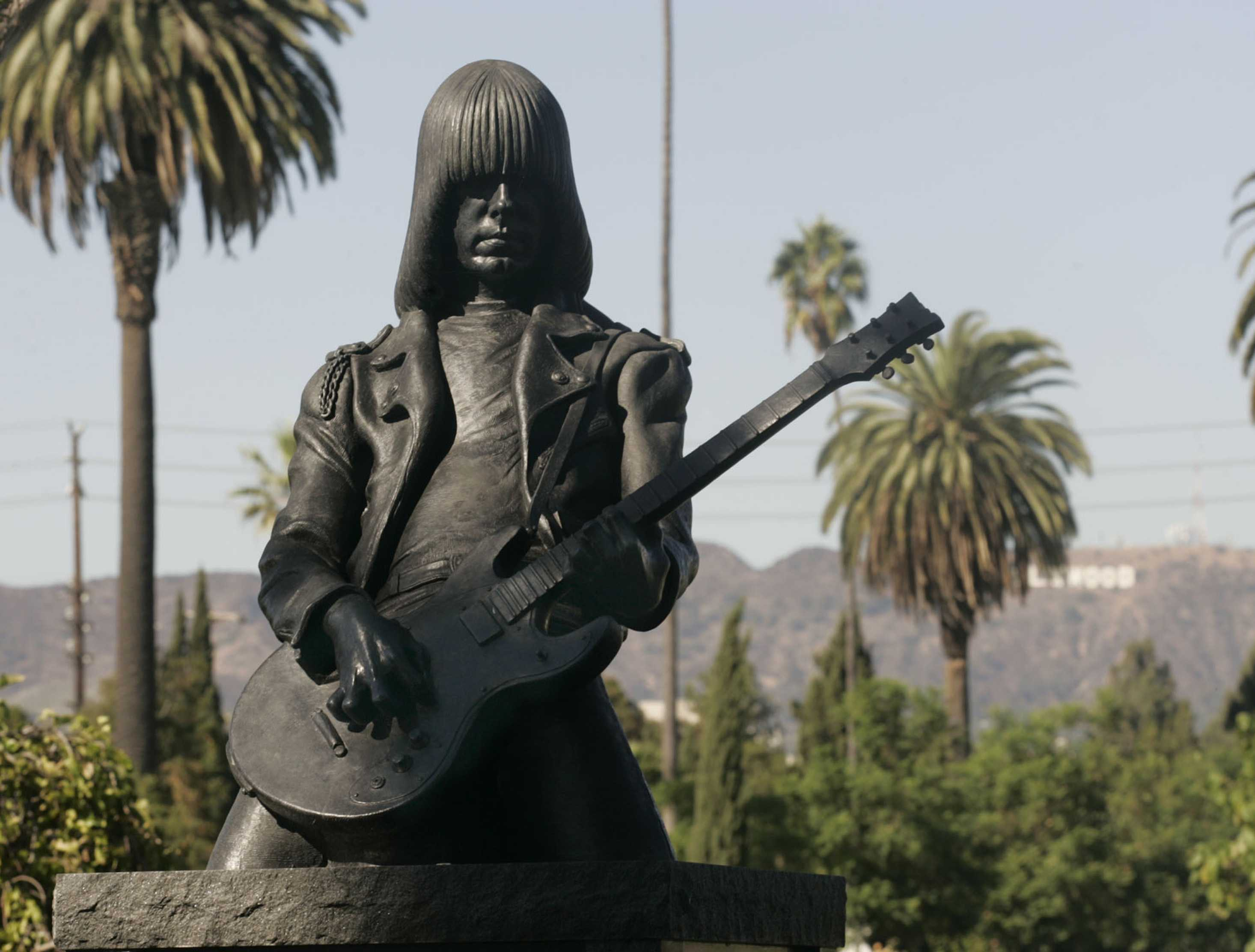 Johnny Ramone sculpture