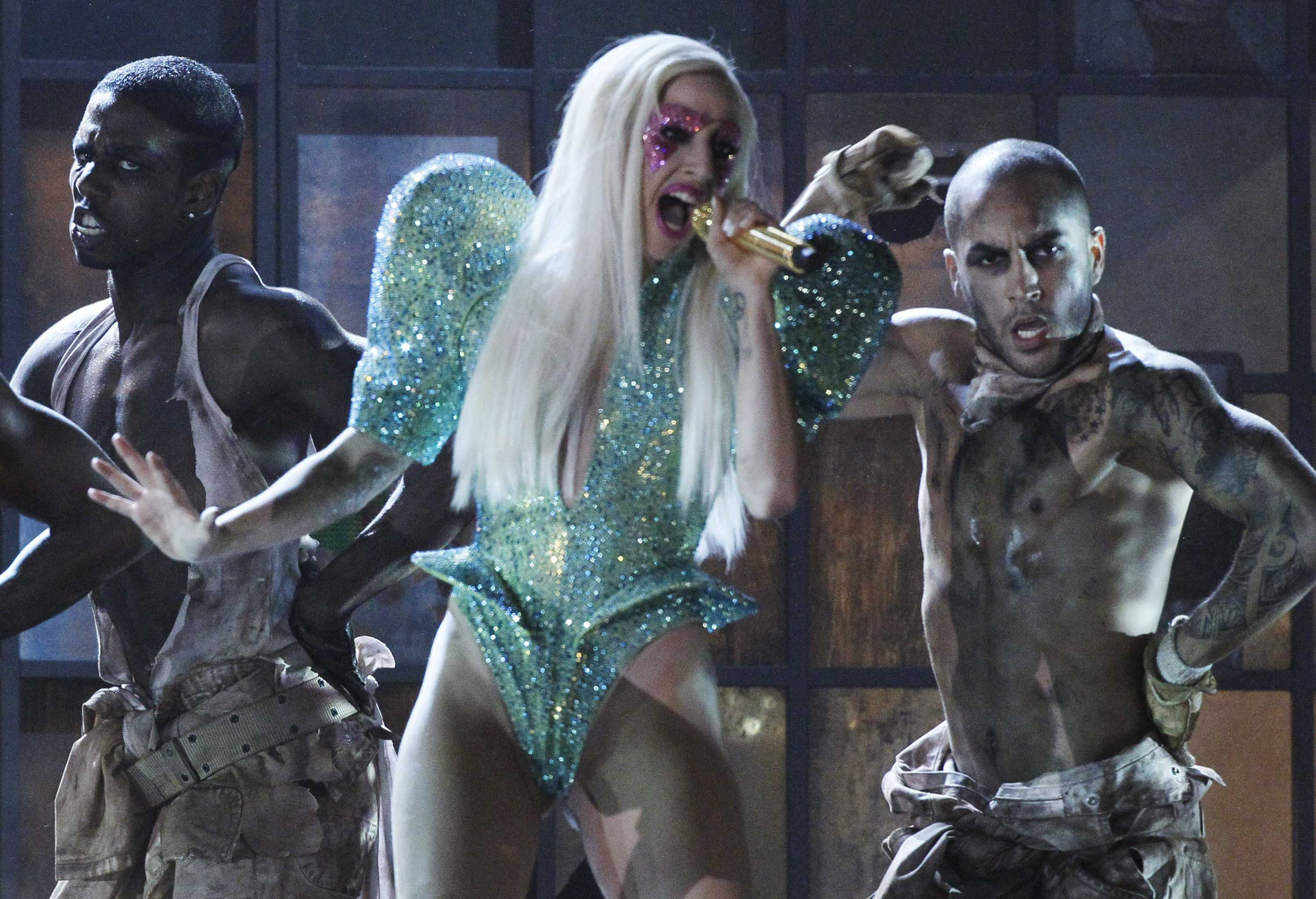 Lady+Gaga+pictured+during+her+performance