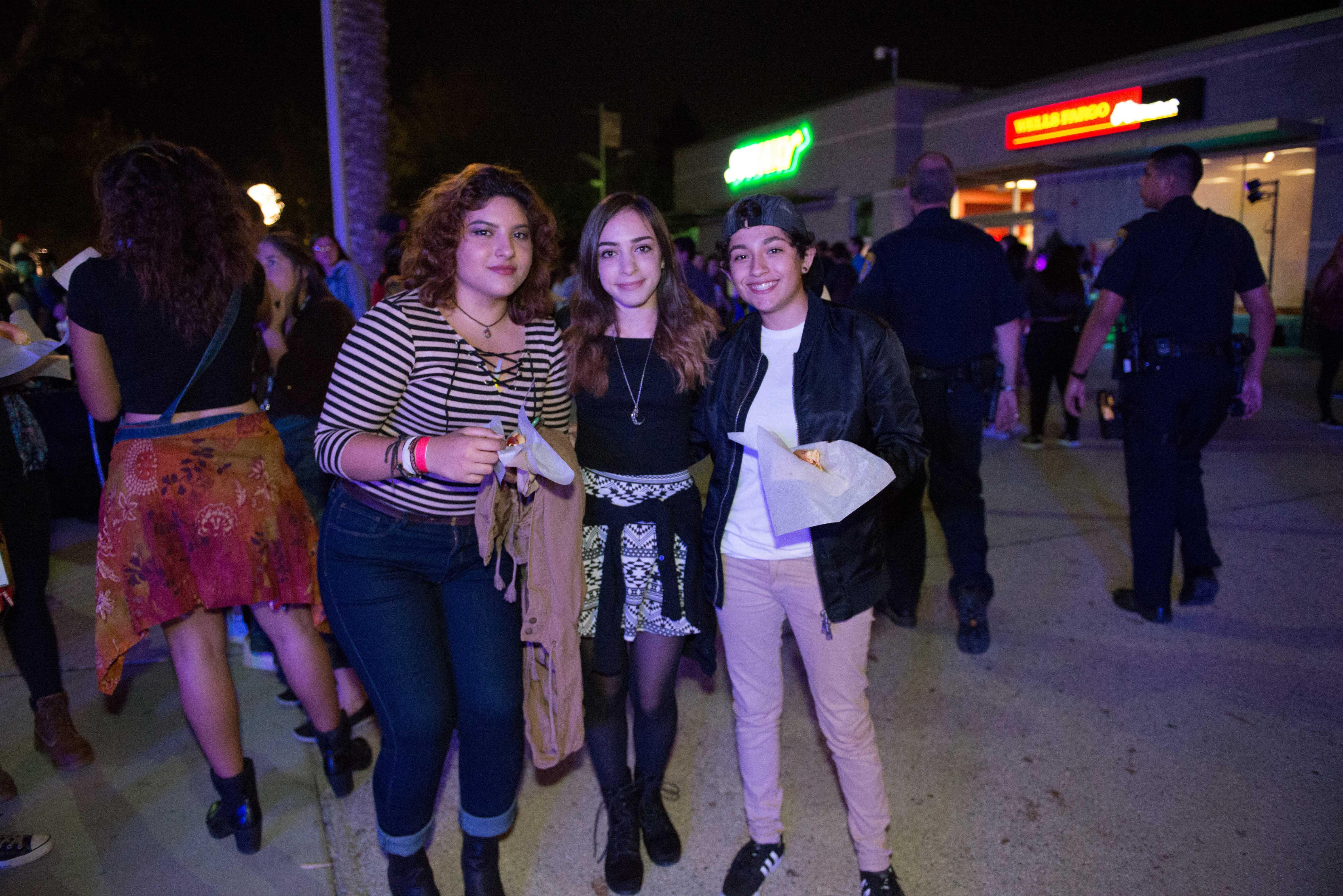 3 students pictured at matador nights