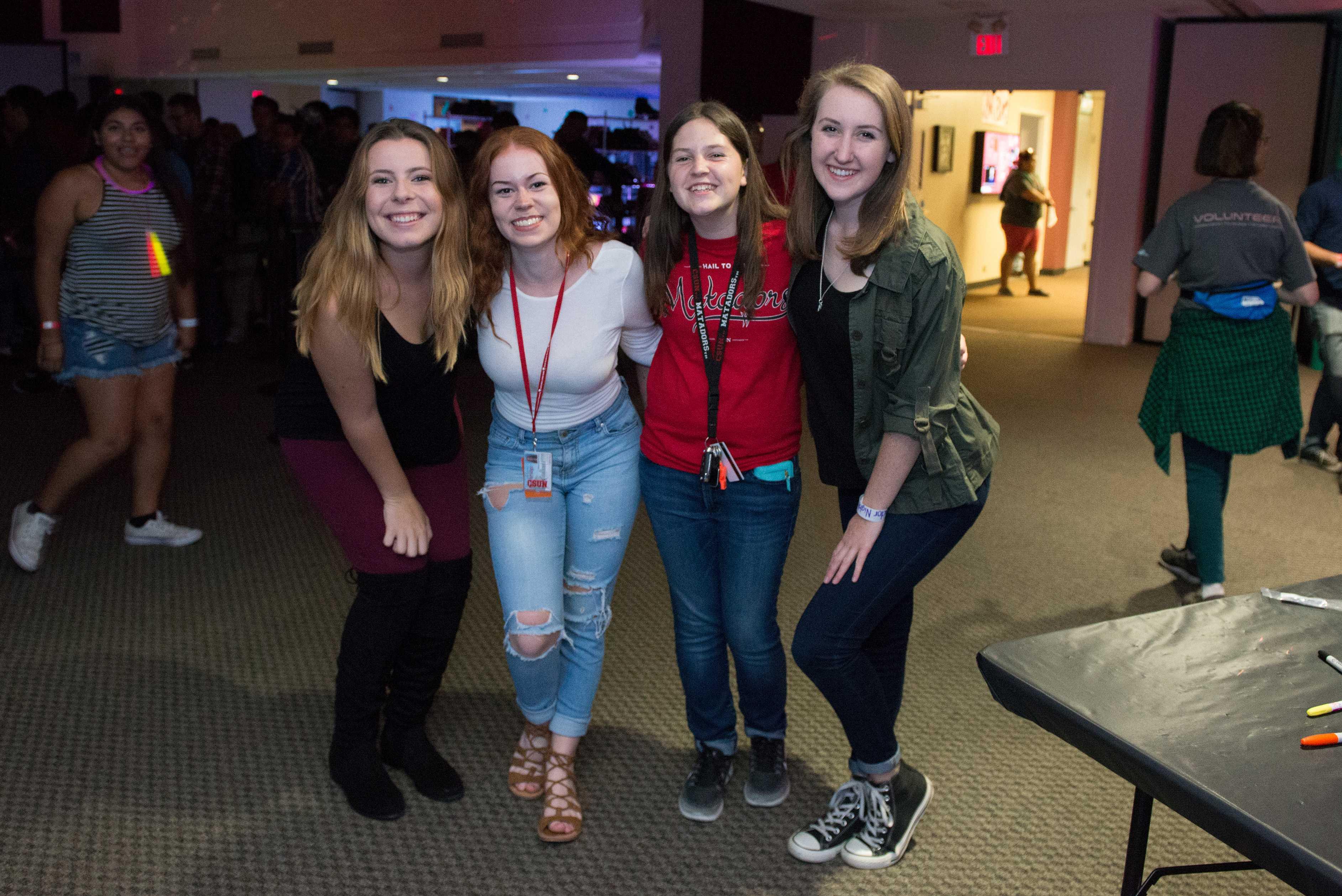 4 freshmen pictured at matador nights