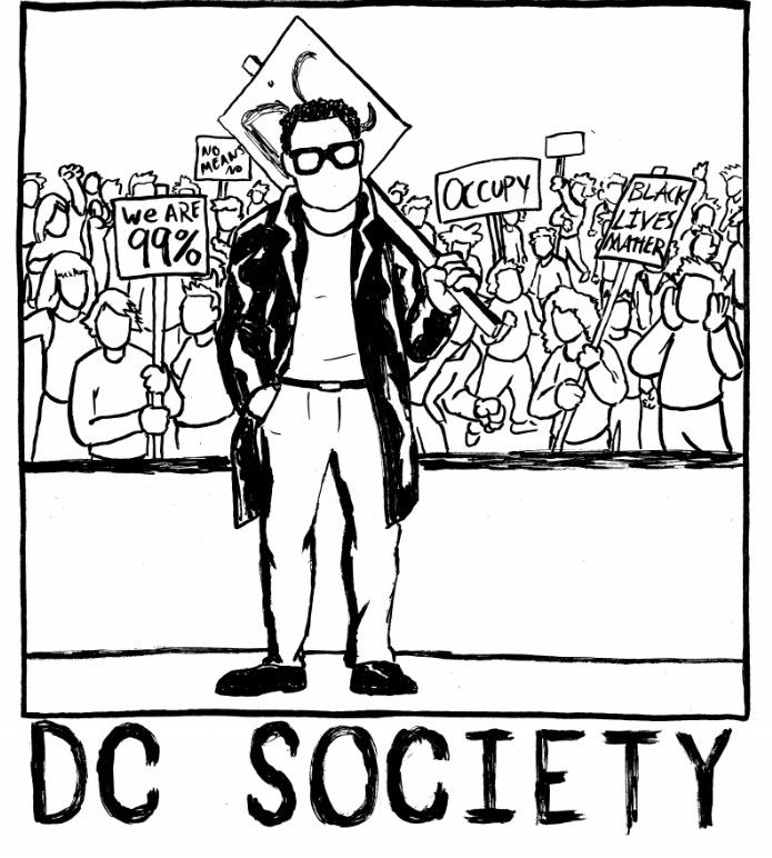 DC+society+comic+shows+people+protesting