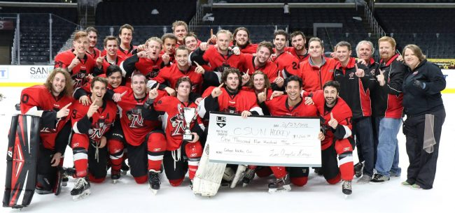 The Ice Hockey club after they won the Kings Cup at the Staple Center in 2015.  Photo Credit: Ice Hockey Club