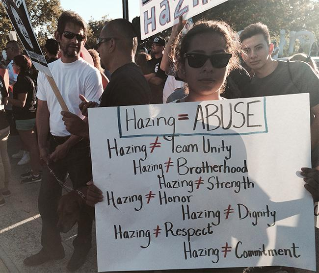 Anti-hazing poster shown